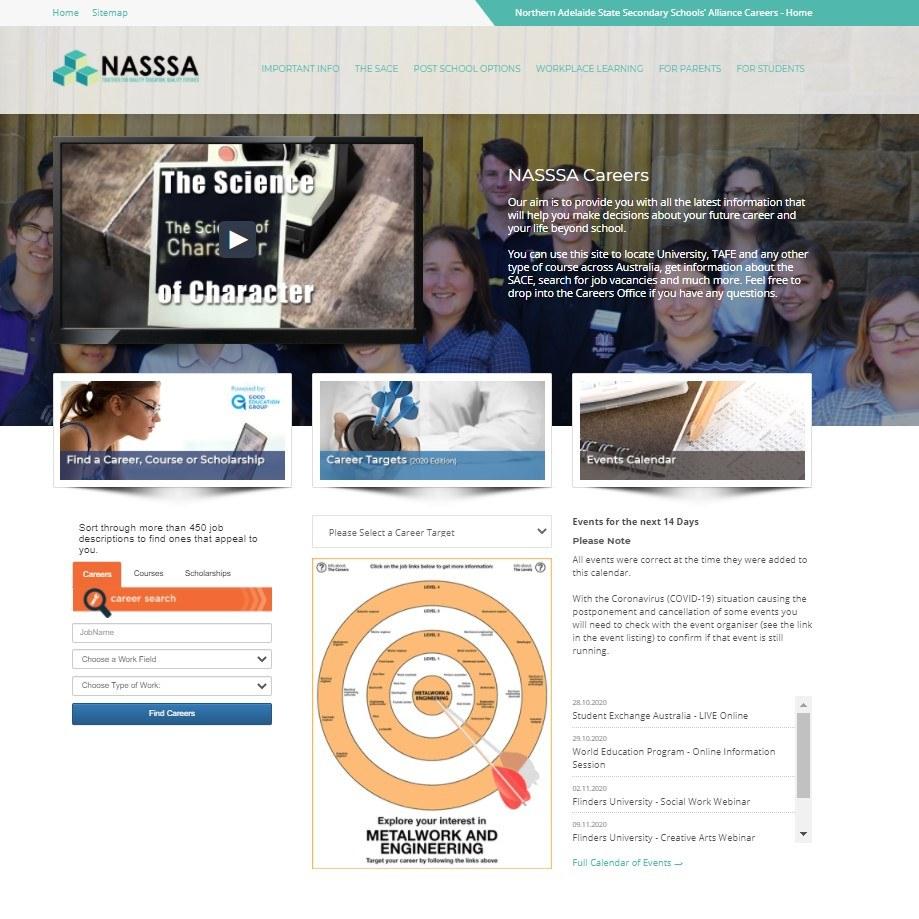 Career Tools Landing Page