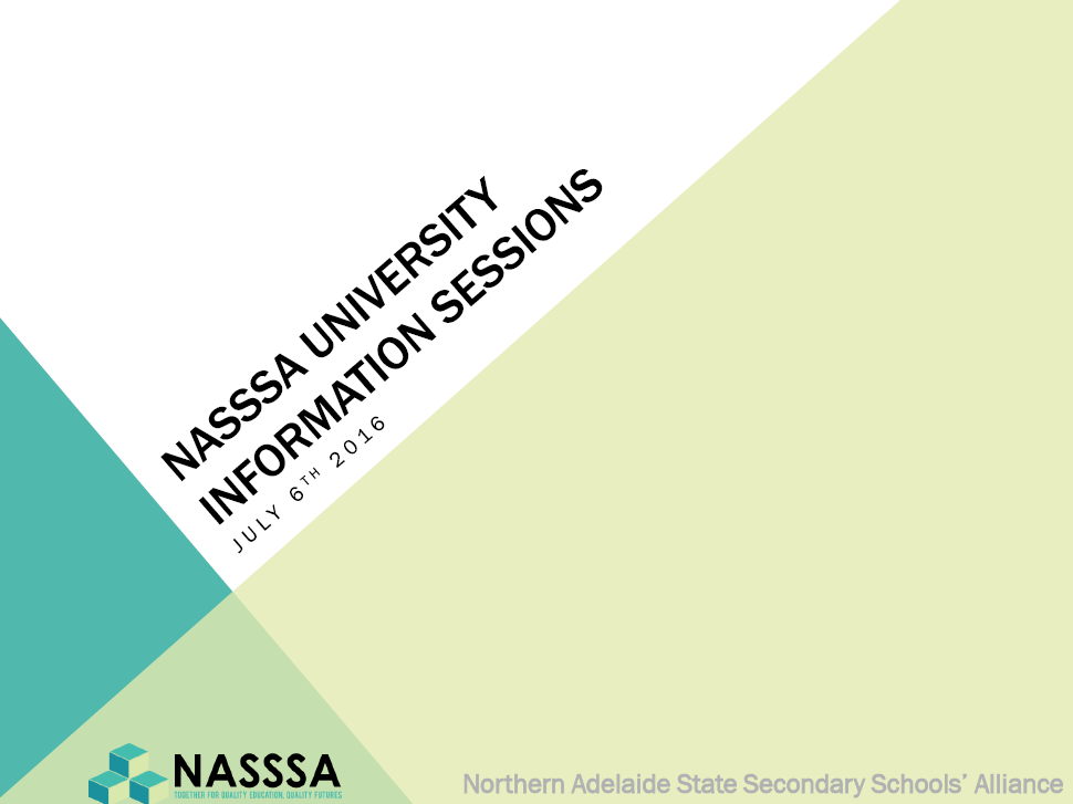 NASSSA University Information Session